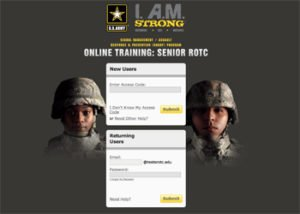 Army Login Screen for Web